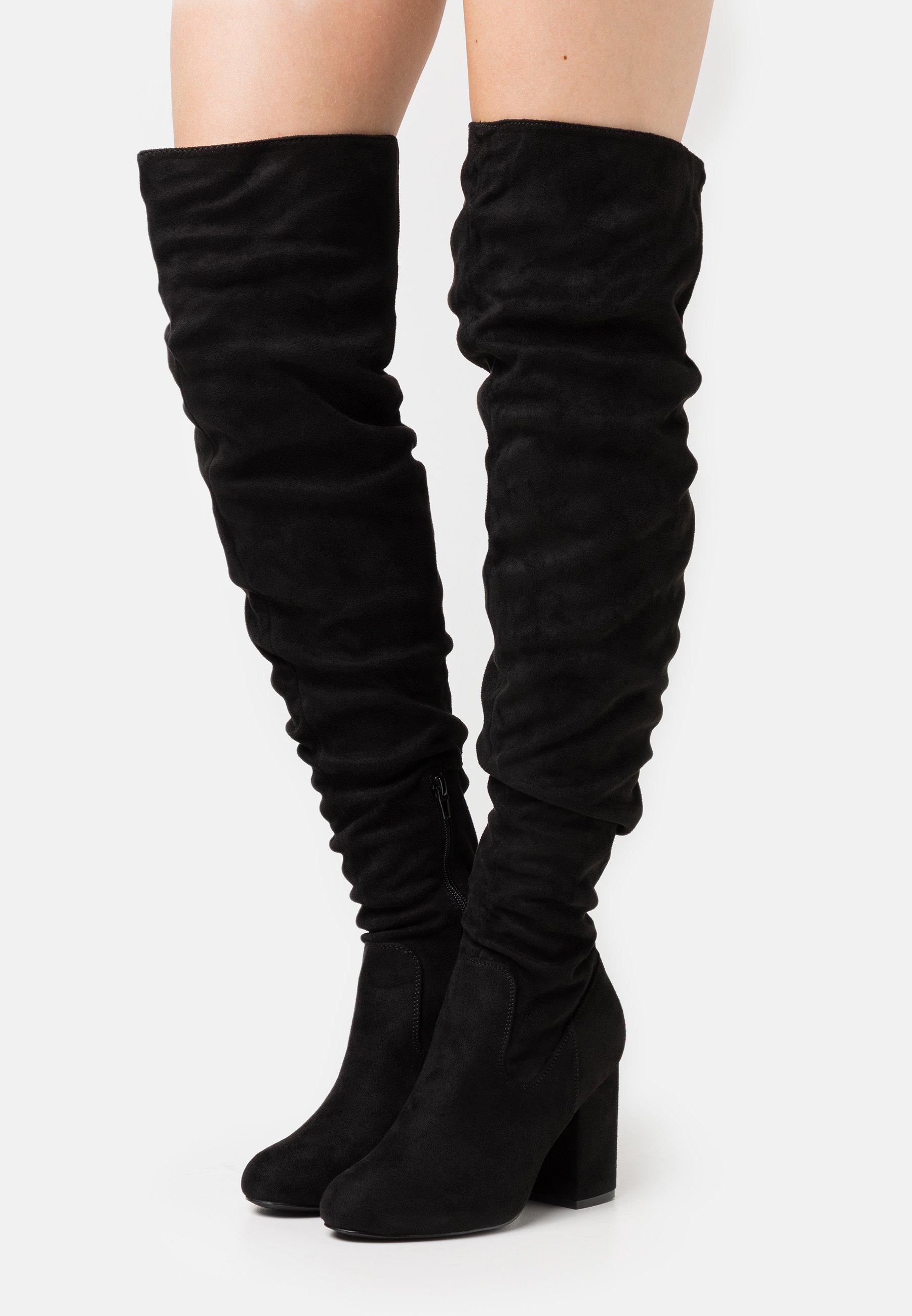 Women High heeled boots - black