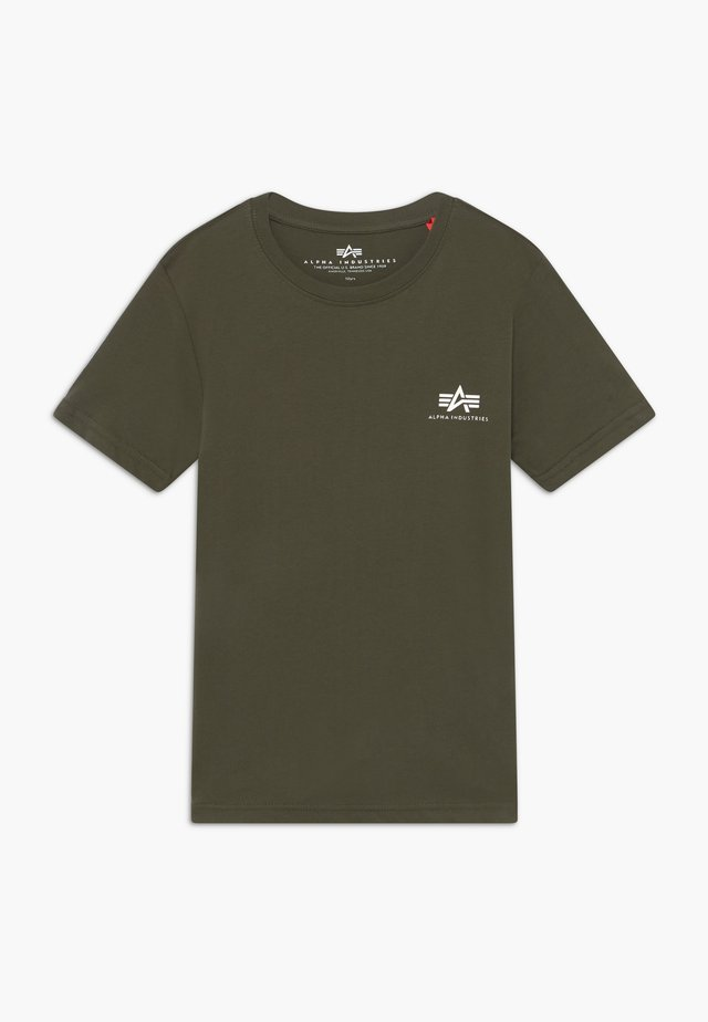 BASIC SMALL LOGO - Basic T-shirt - dark olive