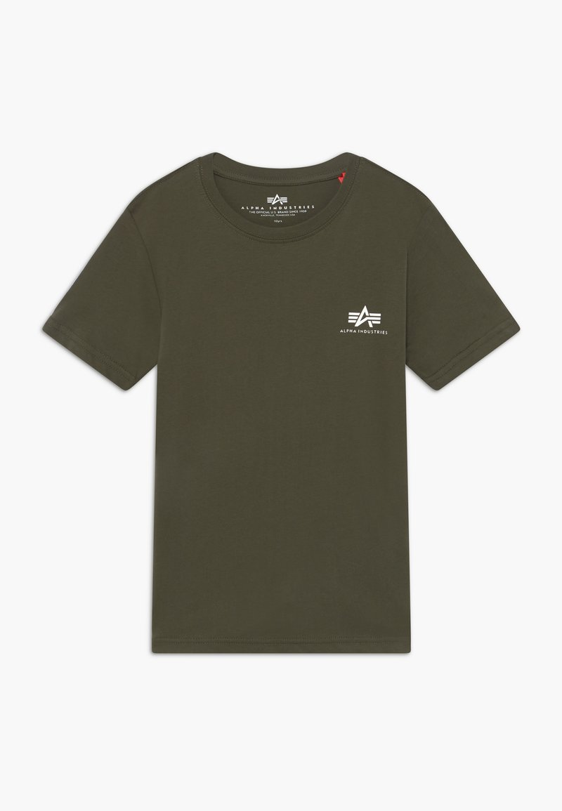 Alpha Industries - BASIC SMALL LOGO - Basic T-shirt - dark olive