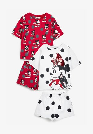2 PACK MINNIE MOUSE  - Pyjama - mottled red/white