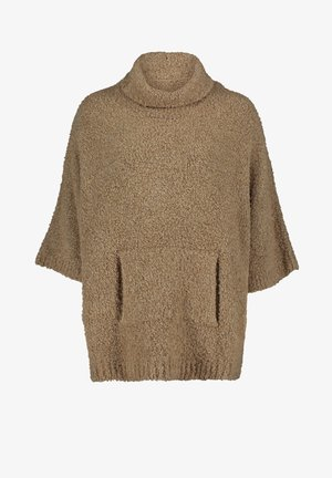 Fleece jumper - light camel melange