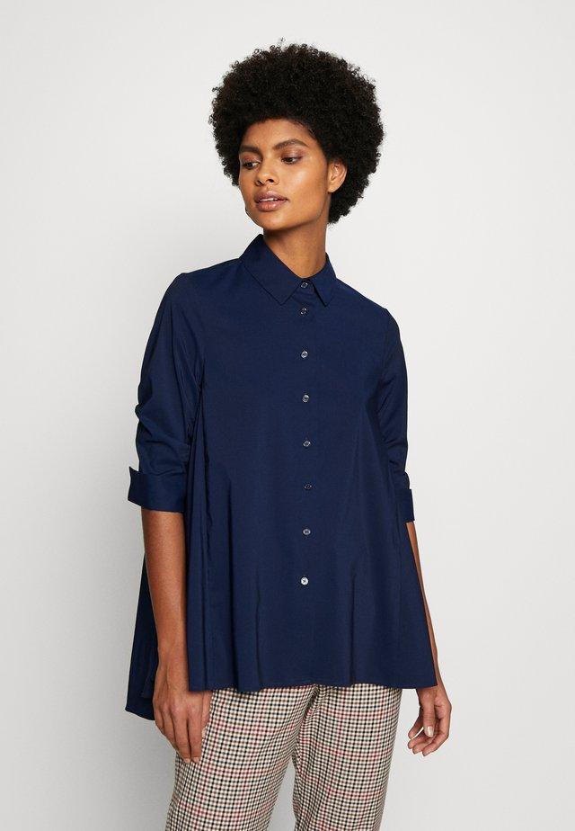 BENITA FASHIONABLE BLOUSE - Button-down blouse - navy