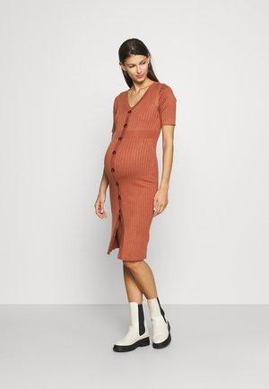 MLDIA DRESS - Jumper dress - copper brown
