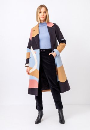 INTARSIA , FUJI PATTERN - Classic coat - nougat