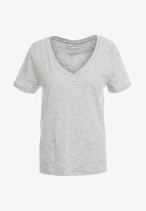 VINTAGE V NECK TEE - Basic T-shirt - mottled grey