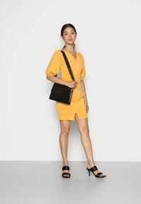 Closet - CLOSET V NECK PENCIL DRESS - Day dress - mustard - 1