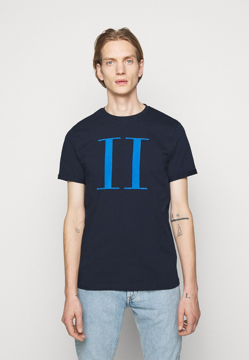 Les Deux - ENCORE  - Print T-shirt - dark navy/parisian blue