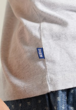Print T-shirt - ice marl