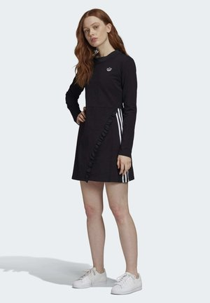 LONG SLEEVE DRESS - Korte jurk - black