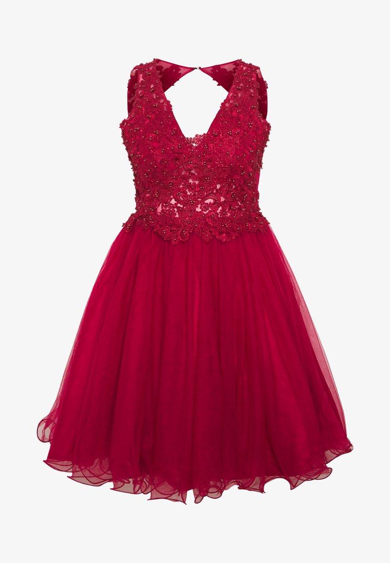 U Collection By Forever Unique Cocktailkleid Festliches Kleid Red Rot Zalando De