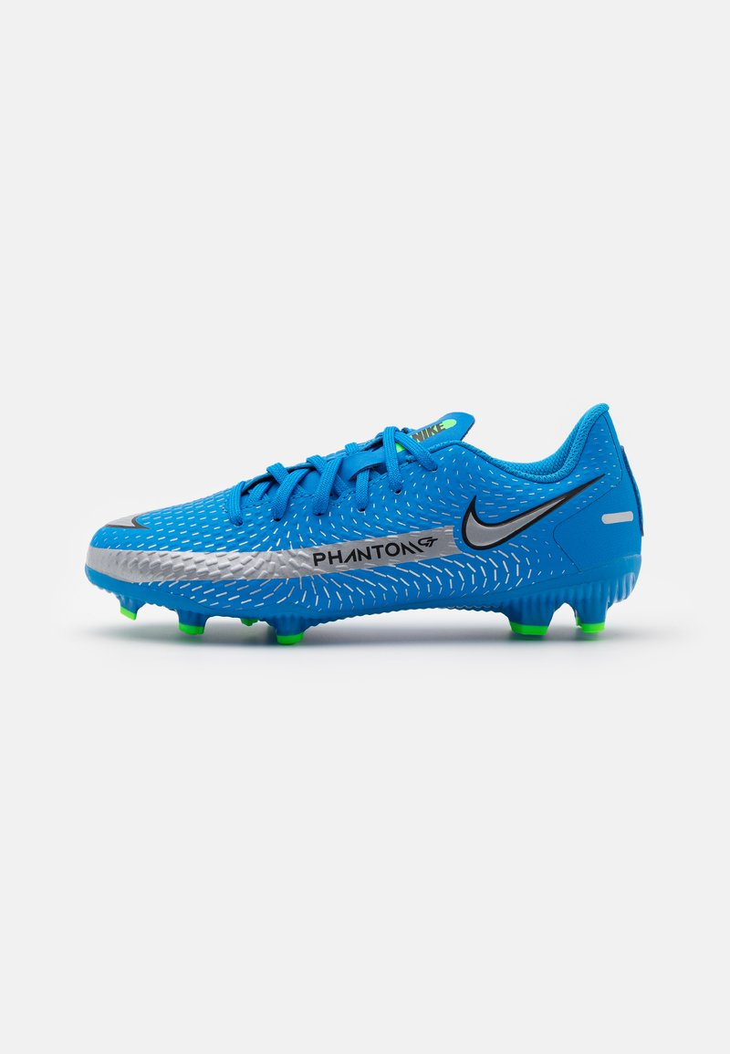 Nike Performance - JR PHANTOM GT ACADEMY MG UNISEX - Moulded stud football boots - photo blue/metallic silver/rage green