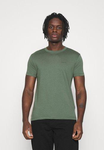 SLIM TEE 3 PACK - Basic T-shirt - olive/black/grey