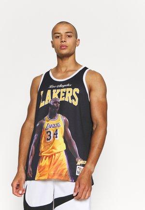 NBA LOS ANGELES SHAQUILLE O'NEAL PLAYER TANK - Fanartikel - black