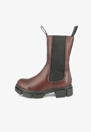 Platform ankle boots - dark-brown