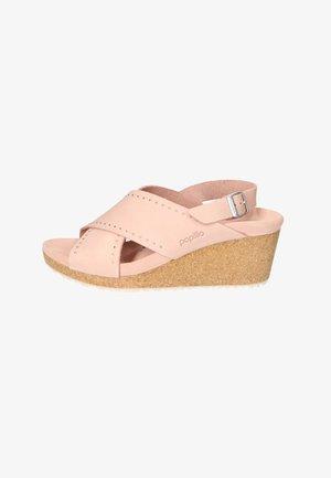Wedge sandals - crystal rose rivets