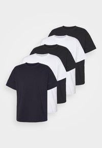 ESSENTIAL SKATE 5 PACK - T-shirt - bas - black/white/ink navy