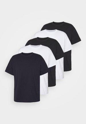 ESSENTIAL SKATE 5 PACK - T-shirt basic - black/white/ink navy