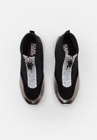 KARL LAGERFELD - VITESSE SOCK ZIP REFLECTIVE - Sneaker high - black/white/silver - 4