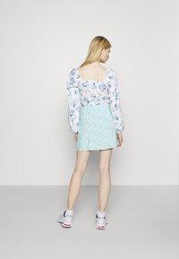 Hollister Co. - SOFT SLIT - Mini skirt - light blue - 2
