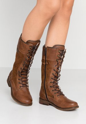 Lace-up boots - kastanie