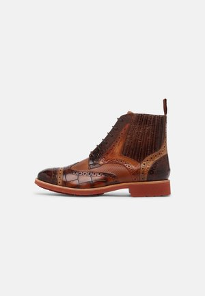 AMELIE  - Lace-up ankle boots - brown