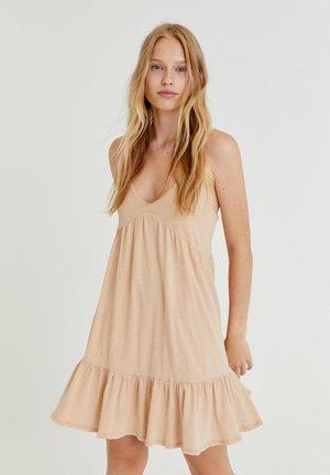 Day dress - mottled beige