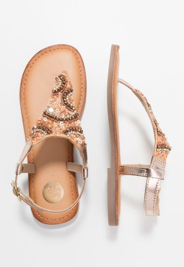 LIERDE - Sandály s odděleným palcem - cooper