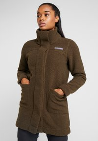 Columbia - PANORAMA LONG JACKET - Fleecová bunda - olive green - 0