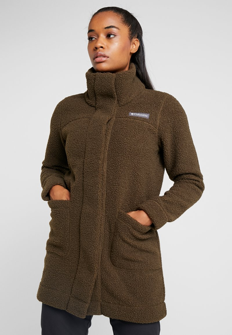 Columbia - PANORAMA LONG JACKET - Fleecová bunda - olive green