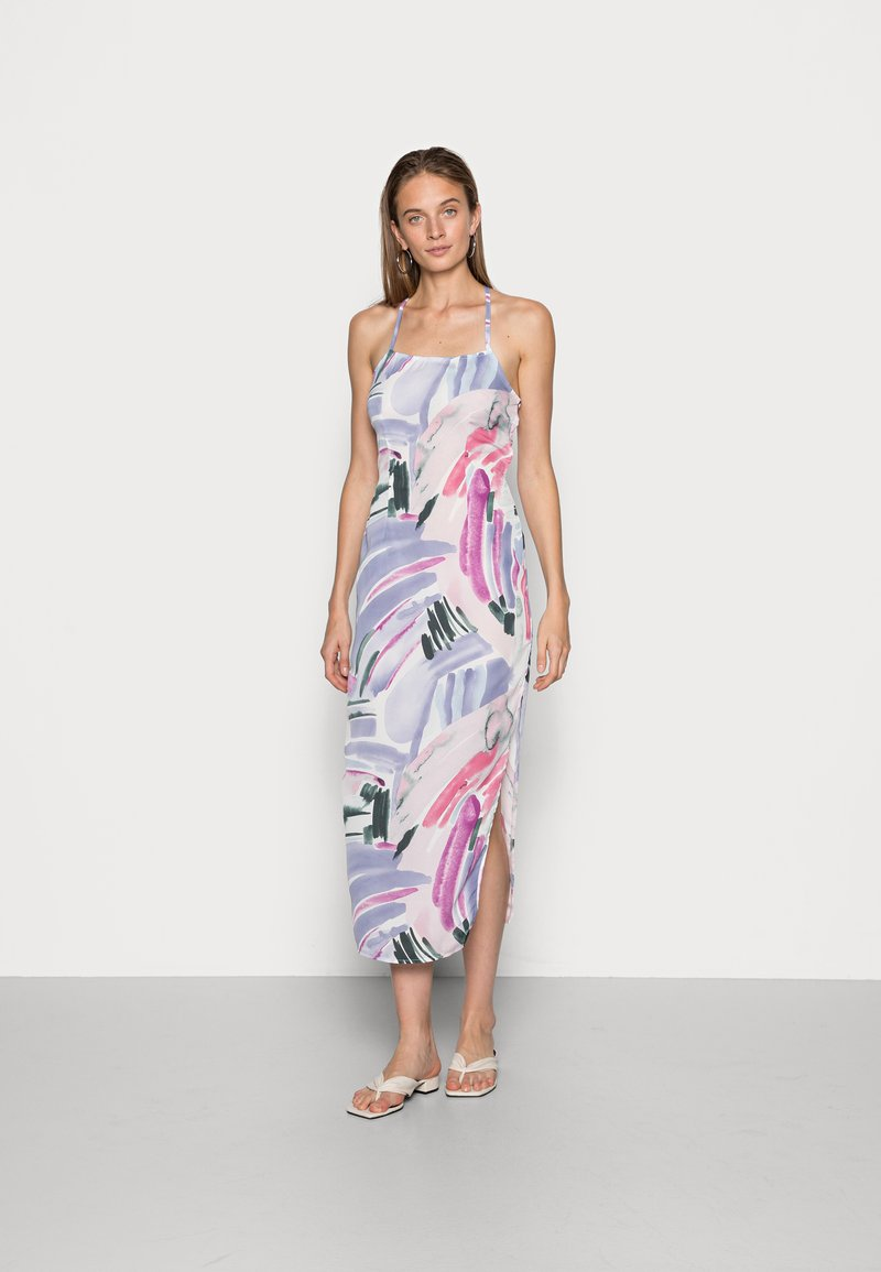IN THE STYLE - SYD & ELL BLUSH ABSTRACT PRINT SPLIT DRESS - Cocktailkjole - multicoloured