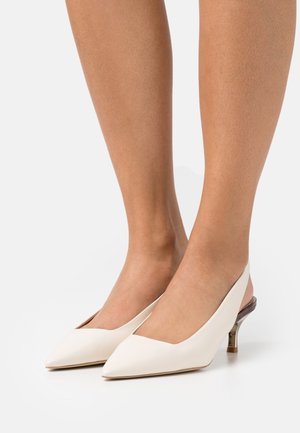 CODE SLINGBACK  - Classic heels - pergamena/toni naturali