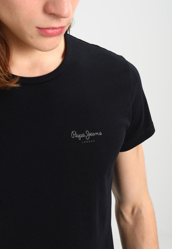 Pepe Jeans ORIGINAL BASIC - T-shirt basic - black/czarny Odzież Męska TYWW