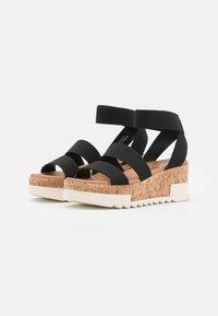 New Look - PORTSEA - Platform sandals - black - 2