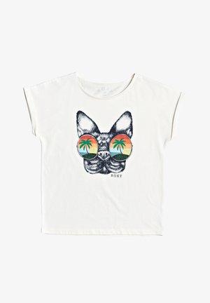 BOYFRIEND FIT FÜR MÄDCHEN - Print T-shirt - snow white