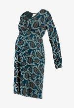 MLVITA TESS DRESS - Sukienka z dżerseju - ponderosa pine/whisper white/ginger