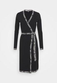 KARL LAGERFELD - LOGO TAPE WRAP DRESS - Jumper dress - black - 5