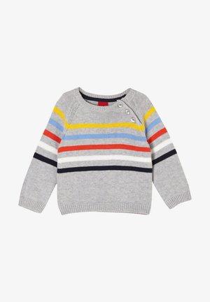 Strickpullover - grey stripes