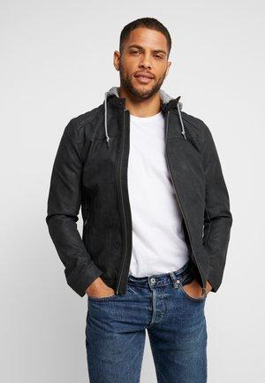 BIKER - Faux leather jacket - greys