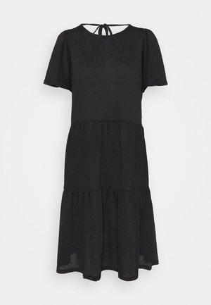 VMSIGNE DETAIL TIE DRESS - Jersey dress - black