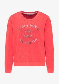 Frieda & Freddies - SWEATSHIRT MIT GLANZDETAILS - Sweatshirt - cherry red - 0