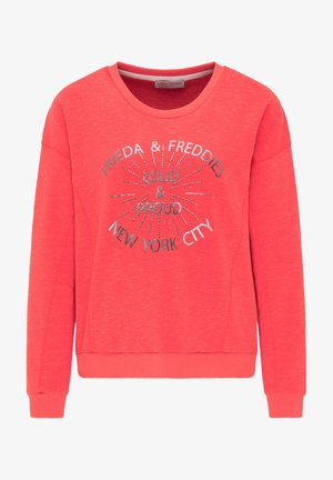 SWEATSHIRT MIT GLANZDETAILS - Sweatshirt - cherry red