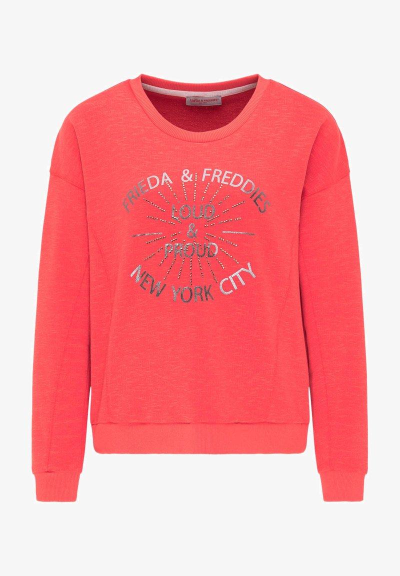 Frieda & Freddies - SWEATSHIRT MIT GLANZDETAILS - Sweatshirt - cherry red