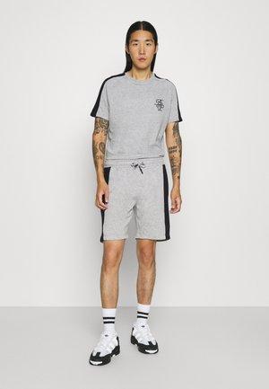 ALEX - Print T-shirt - light grey marl/jet black