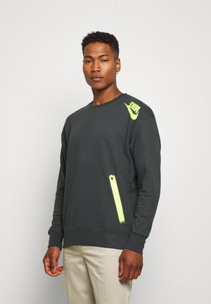 FESTIVAL CREW - Sweatshirts - dark smoke grey/volt