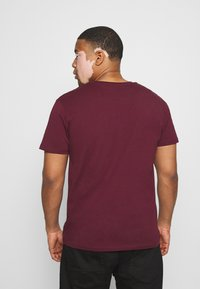LTB - 2 PACK - Basic T-shirt - bordeaux/olive - 4