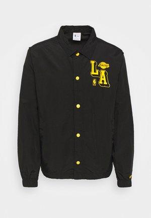 NBA LOS ANGELES LAKERS COACH JACKET - Club wear - black/amarillo