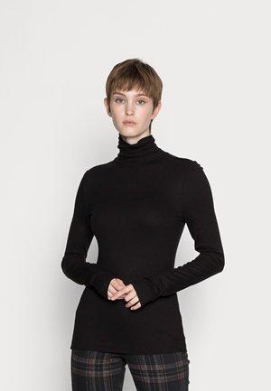 SLIM MOCK NECK - Long sleeved top - black