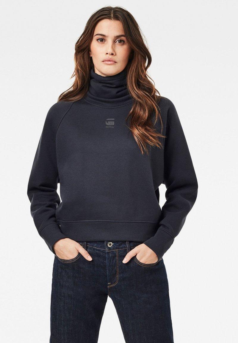 G-Star - HIGH TURTLE NECK LOOSE - Sweatshirt - mazarine blue