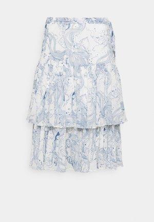 A-linjainen hame - white/blue