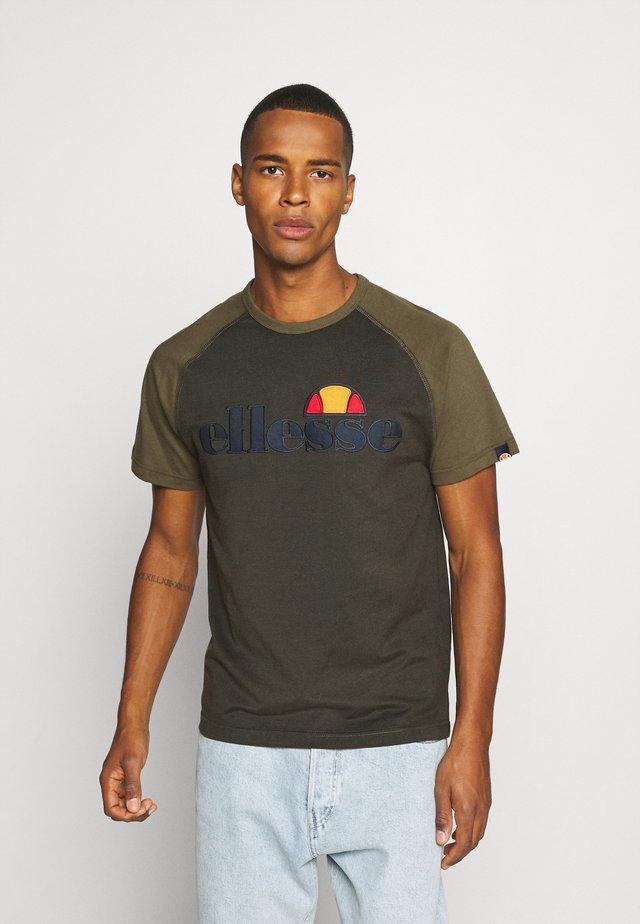 COPER - T-shirt imprimé - khaki marl